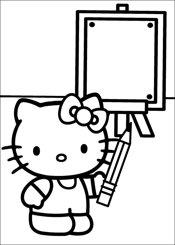 Hello Kitty ausmalbilder für kinder 2