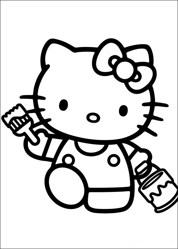 Hello Kitty ausmalbilder gratis 3