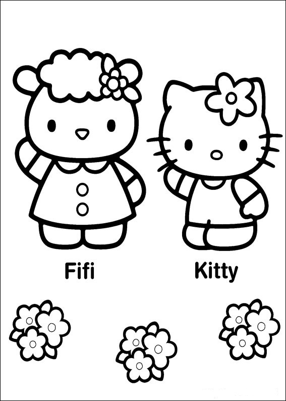 Hello Kitty ausmalbilder für kinder 8