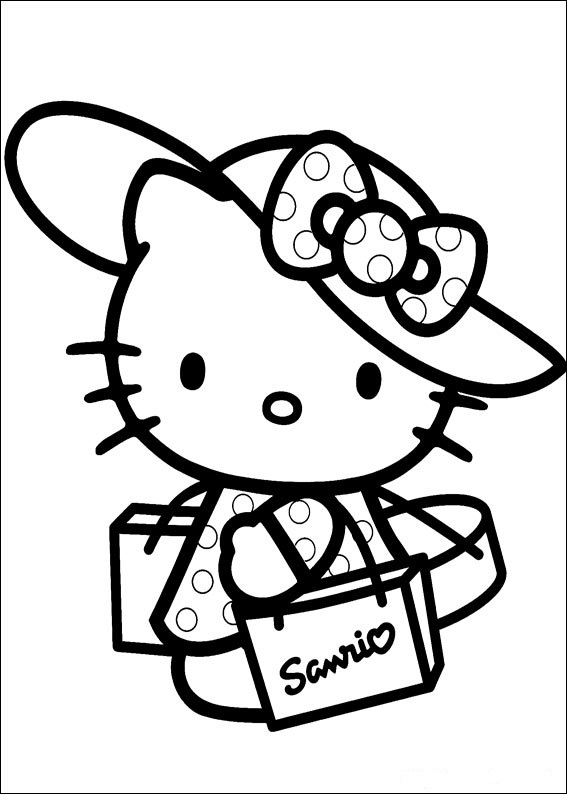 Hello Kitty ausmalbilder für kinder 9