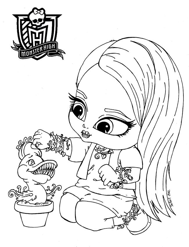 Monster High gratis ausmalbilder 12