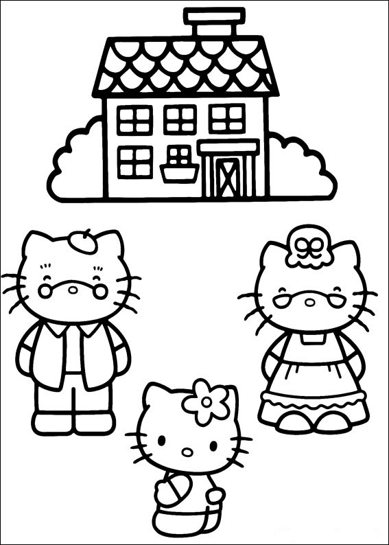 Hello Kitty ausmalbilder 21