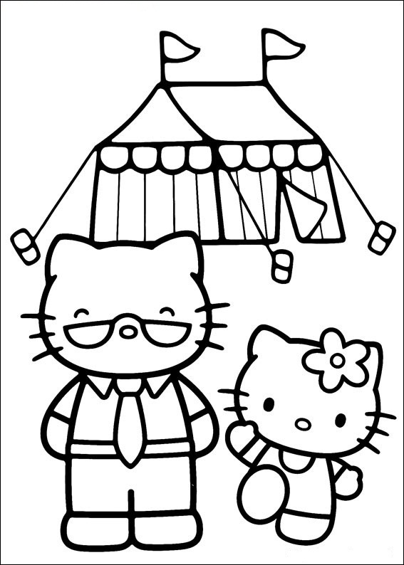Hello Kitty bilder zu malen 23