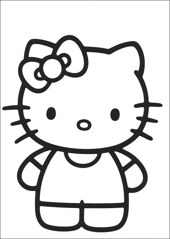 Ausmalbilder von Hello Kitty 27