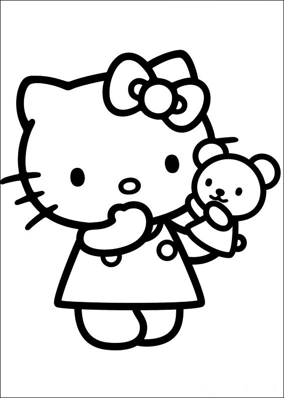 Hello Kitty 28 | Ausmalbilder gratis