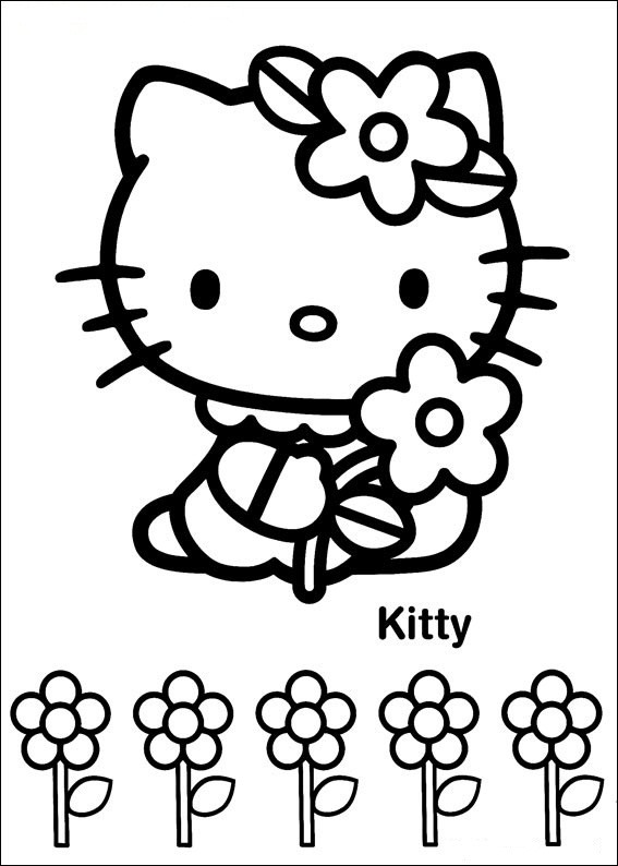 Hello Kitty 31 | Ausmalbilder gratis