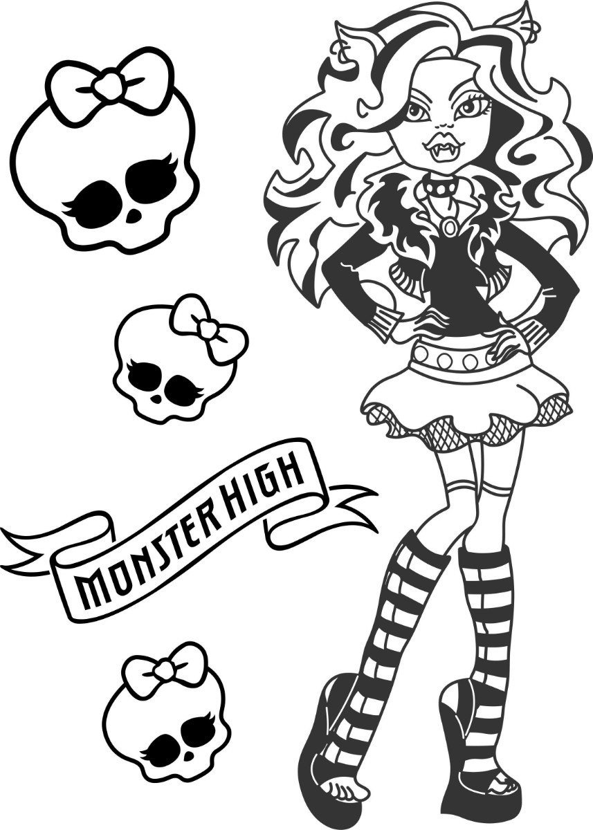 Monster High zum malen 61