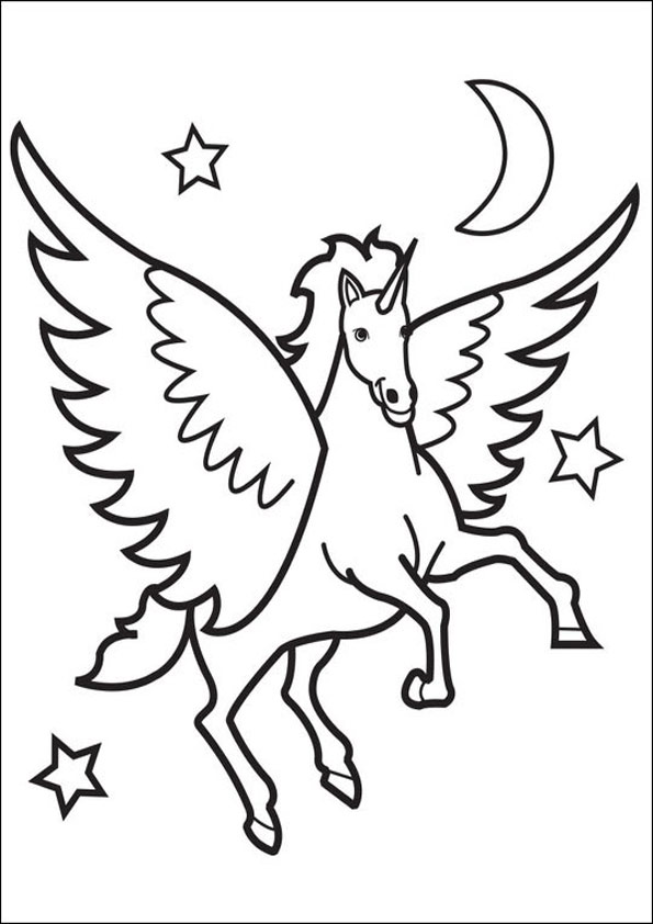 free coloring pages flying horses - photo#22